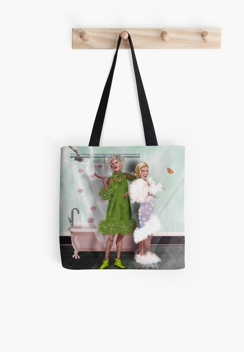 Final Curtain Shower Tote Bag By Alma Lee