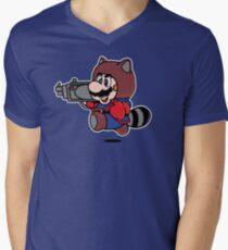 Rocket Tanooki Men's V-Neck T-Shirt