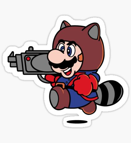 Rocket Tanooki Sticker