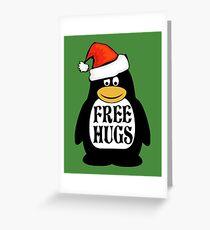 Hugs the Christmas Penguin Greeting Card