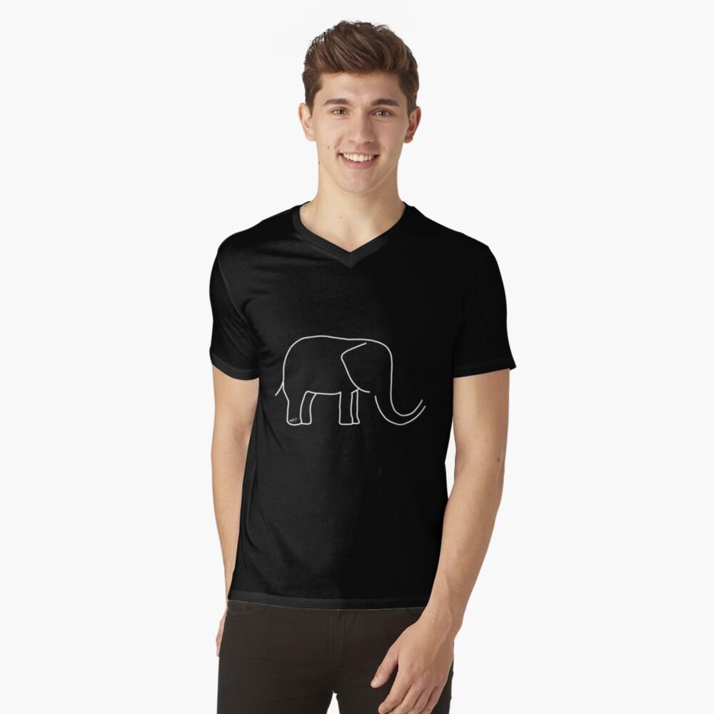 Für die Liebe der Elefanten T-Shirt mit V-Ausschnitt