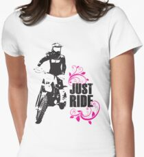 Just Ride- Motorcyle Rider Girl T-Shirt