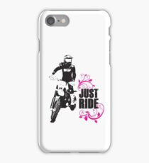 Just Ride- Motorcyle Rider Girl iPhone Case/Skin