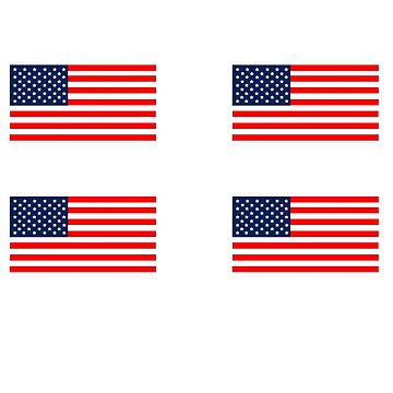 Flag of the United States of America 4 pack by rjburke24