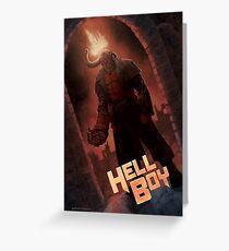 Hell Boy Fan Poster Greeting Card