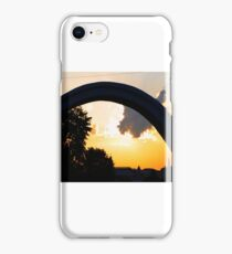 Sunset seen through Lovers Arch iPhone Case/Skin