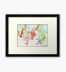 Winnie the Poo and Friends Framed Print