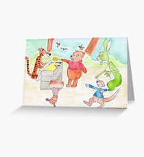 Winnie the Poo and Friends Greeting Card