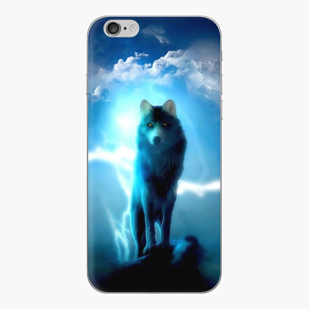 Lighting Wolf iPhone Skin