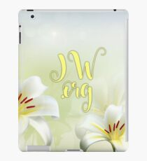 JW.org green and yellow 2 iPad Case/Skin