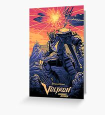 Blue Voltron Greeting Card