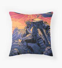 Blue Voltron Throw Pillow