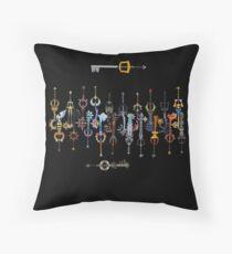 Kingdom heart 2 Keyblade Throw Pillow