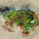 Watercolor Frog by TinaGraphics