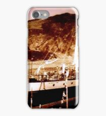 Boat in port circa 1910 iPhone Case/Skin