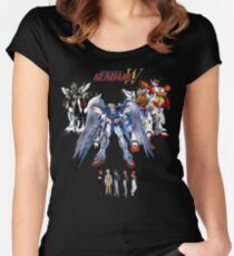 Gundam Wing  Women's Fitted Scoop T-Shirt