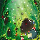 Totoro Christmas Card by Roberto Nieto