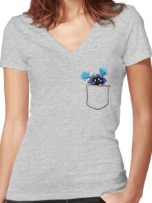 Get in the pocket!! Women's Fitted V-Neck T-Shirt