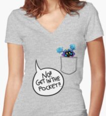Get in the pocket!! (vr. 2) Women's Fitted V-Neck T-Shirt