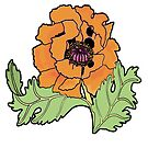 california poppy on other colours by genevievem
