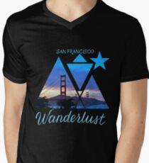 SF Men's V-Neck T-Shirt
