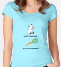 Love Animals Eat Vegetables Women's Fitted Scoop T-Shirt