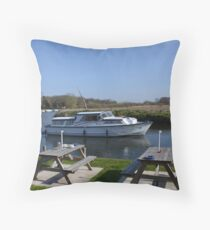 Norfolk Broads Cruiser Throw Pillow