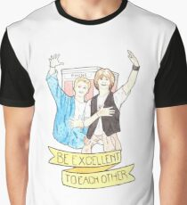Bill & Ted's Excellent Adventure / Bogus Journey Watercolor Illustration Graphic T-Shirt