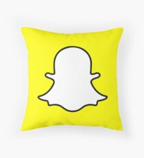 Snapchat Throw Pillow