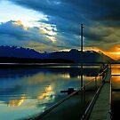 Lake Te Anau at sunset. South Island, New Zealand. (3) by Ralph de Zilva