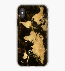 Weltkarte Gold 7 iPhone-Hülle & Cover