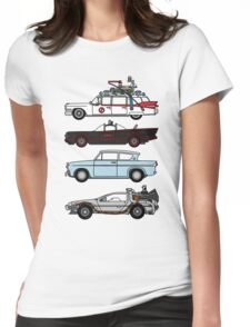 Iconic movie cars Womens Fitted T-Shirt