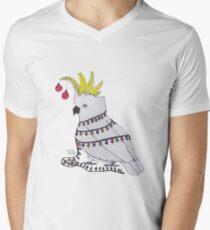 Christmas Cockatoo V-Neck T-Shirt