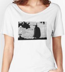 Field Black Women's Relaxed Fit T-Shirt