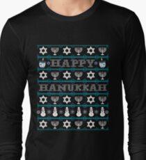 Hanukkah, Ugly Hanukkah Sweater, Hanukkah Sweater, Happy Hanukkah  Long Sleeve T-Shirt