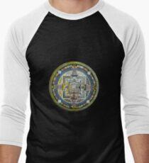 Tibetan Mandala green Men's Baseball ¾ T-Shirt