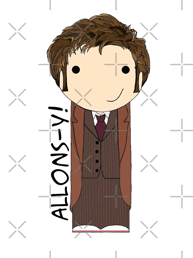 Tenth Doctor Doctor Who kokeshi doll by Jen  Talley