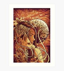 orange fox Art Print