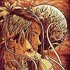 orange fox by HeartlessArts