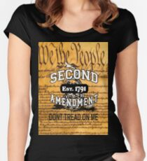 Gadsden Flag We The People Don't Tread On Me Shirt, Cases, Stickers, Pillow, Posters, Cards Women's Fitted Scoop T-Shirt