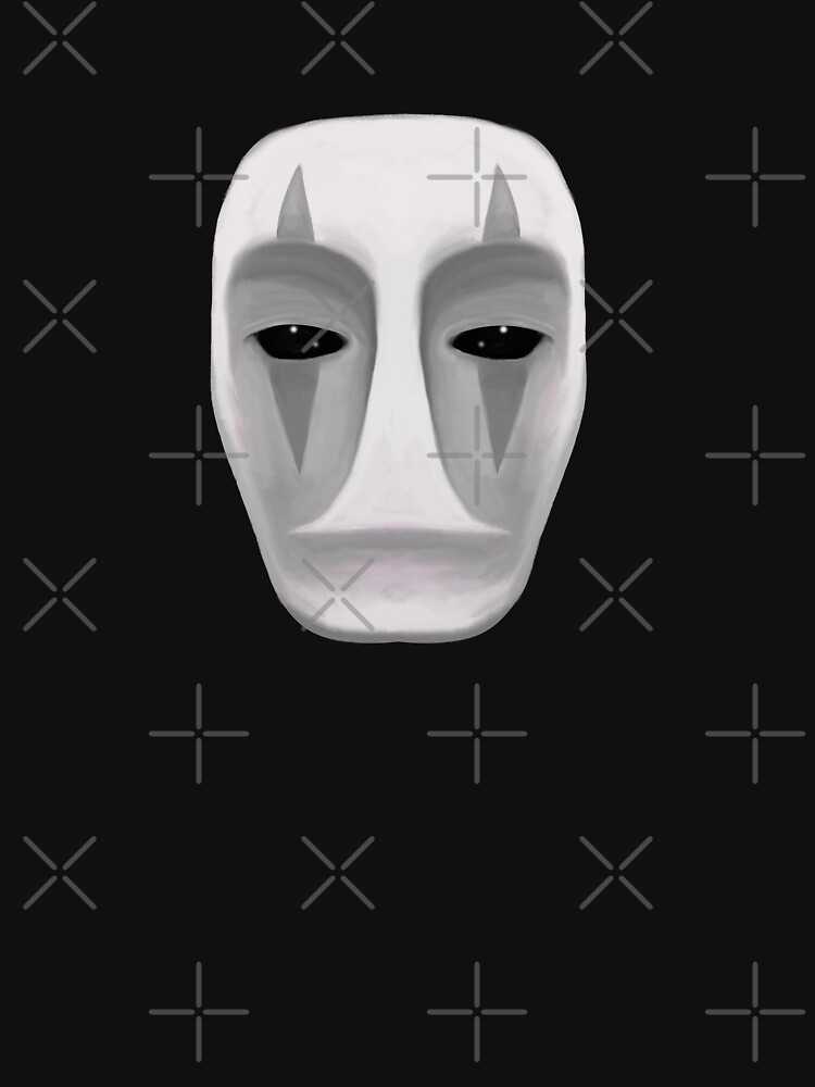 No Face Spirited Away Ghibli Fanart Mask T Shirt By Thepinecones Redbubble