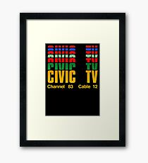 Channel 83  Cable 12 Framed Print