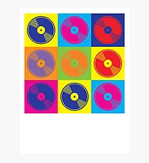 Pop Art Vinyl Records Photographic Print