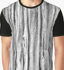 Driftwood Faux Bois, Black, White and Gray Graphic T-Shirt