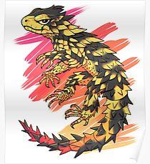 Smaug giganteus- red N yellow Poster