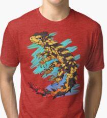 Smaug giganteus- Blue N green Tri-blend T-Shirt