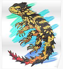 Smaug giganteus- Blue N green Poster