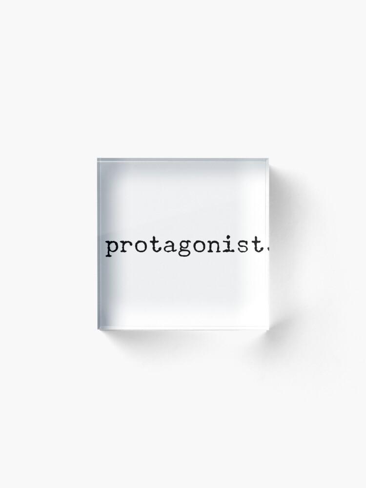 Alternate view of Protagonist Acrylic Block