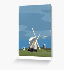 Jack and Jill Windmills Greeting Card