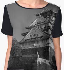 Osaka Castle B&W Chiffon Top